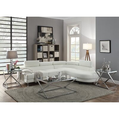 Ike Sectional Upholstery: White
