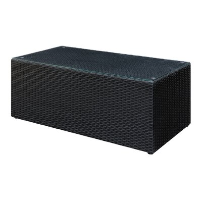 Britt Outdoor Cocktail Table Finish: Black