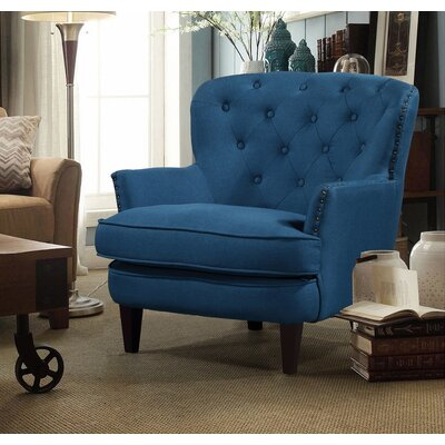 Collingdale Wood Frame Armchair Upholstery: Blue