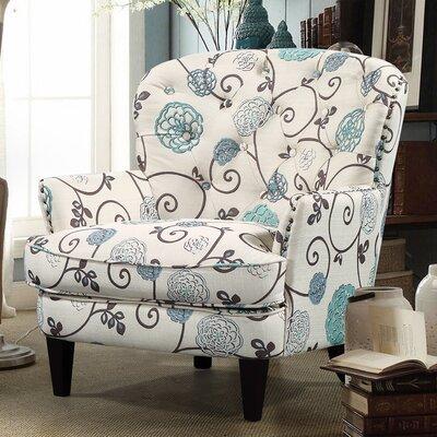 Collingdale Armchair Upholstery: Beige/Blue