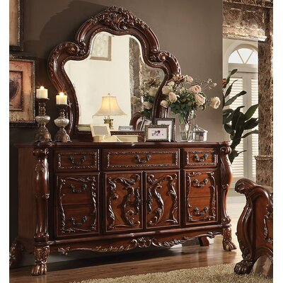 Rangely 7 Drawer Combo Dresser with Mirror