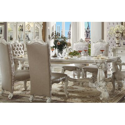 Versailles Dining Table Finish: Bone White