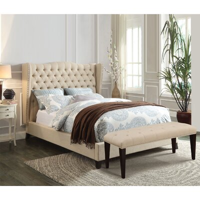 Caress Upholstered Platform Bed Size: Queen