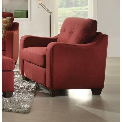 Beyer Armchair Upholstery: Red