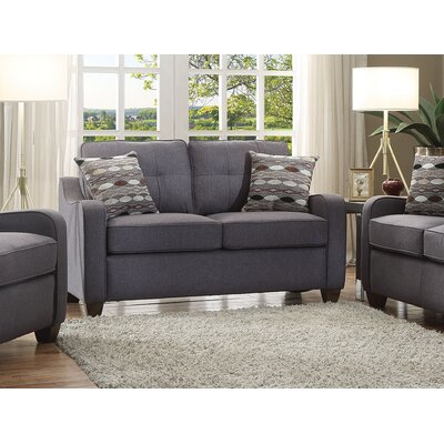 Beyer Loveseat Living Room Set Upholstery: Gray