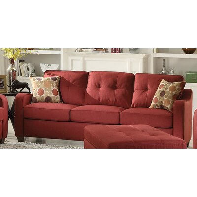 Beyer Sofa Upholstery: Red