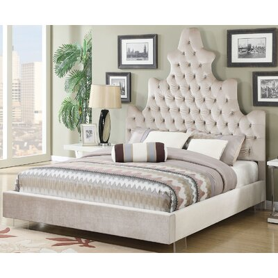 Marilou Plush Upholstered Panel Bed Size: King