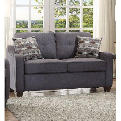 Beyer Loveseat Upholstery: Gray