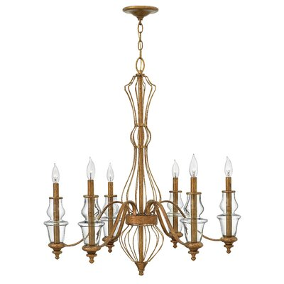 Celine 6-Light Candle-Style Chandelier
