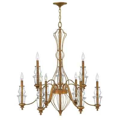 Celine 9-Light Candle-Style Chandelier