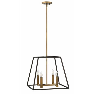 Burley Oak 4-Light Foyer Pendant Size: 16.25 H x 18 W x 18 D