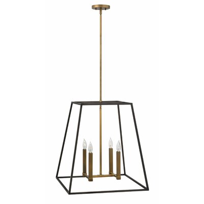Burley Oak 4-Light Foyer Pendant Size: 24.5 H x 22 W x 22 D