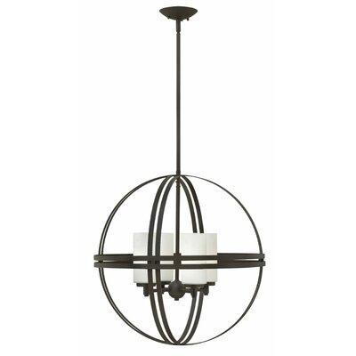 Atrium 4-Light Globe Pendant Size: 22.5 H x 22 W x 22 D