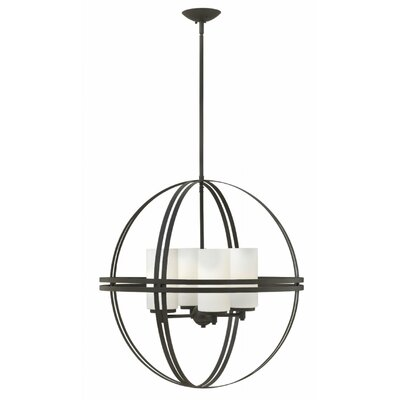 Nussbaum 4-Light Globe Pendant Size: 26.75 H x 26 W x 26 D