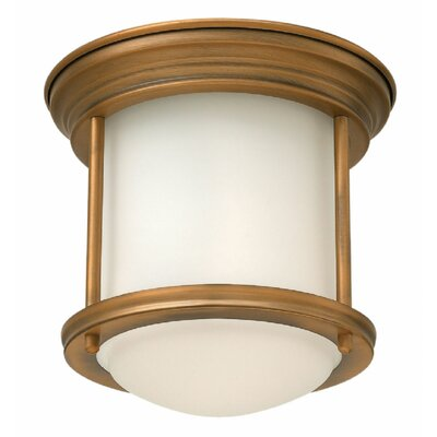 Hadley 1 Light Flush Mount Finish: Brushed Bronze
