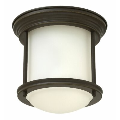 Hadley 1-Light Flush Mount Finish: Oil Rubbed Bronze, Bulb Type: Incandescent