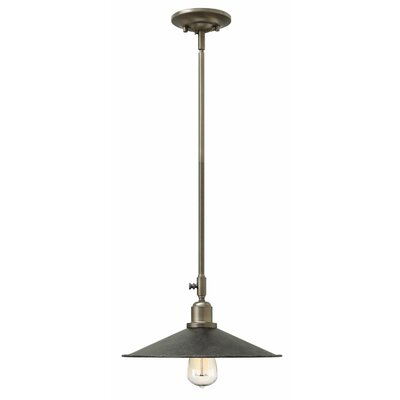 Elliot 1-Light Mini Pendant Finish: Greystone