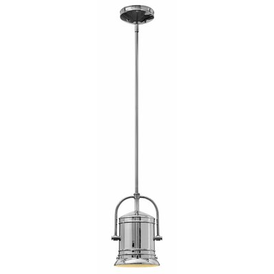 Warfield 1-Light Mini Pendant Finish: Chrome, Size: 11 H x 7.25 W x 7.25 D, Bulb Type: 15W LED