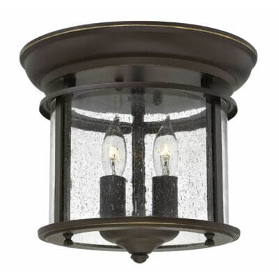 Gentry 2-Light Flush Mount Finish: Olde Bronze