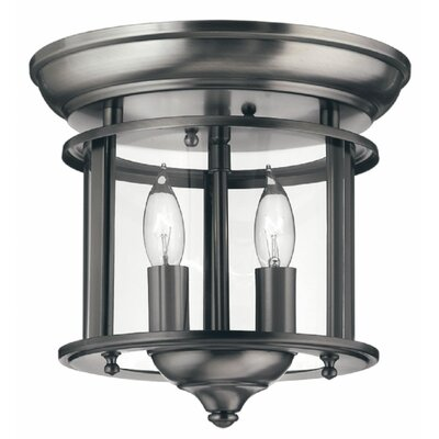 Robles 2-Light Flush Mount Finish: Pewter