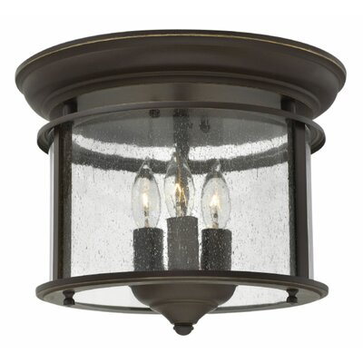 Gentry 3-Light Flush Mount Finish: Olde Bronze