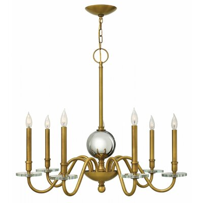 Everly 7-Light Candle-Style Chandelier Finish: Heritage Brass