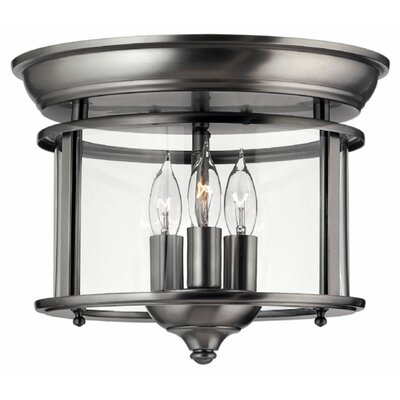 Robles 3-Light Flush Mount Finish: Pewter