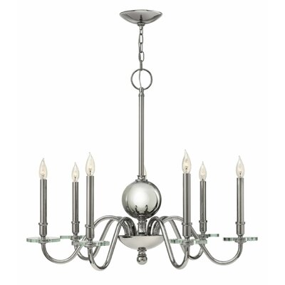 Everly 7-Light Candle-Style Chandelier Finish: Polished Nickel