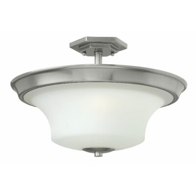 Brantley 3-Light Semi Flush Mount Fixture Finish: Textured Black, Bulb Type: MED