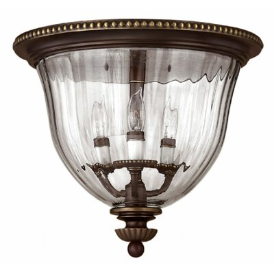 Dhavale 3-Light Flush Mount Finish: Olde Bronze