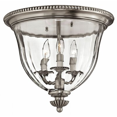 Cambridge 3-Light Flush Mount Finish: Pewter