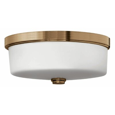 3-Light Flush Mount Finish: Brushed Bronze