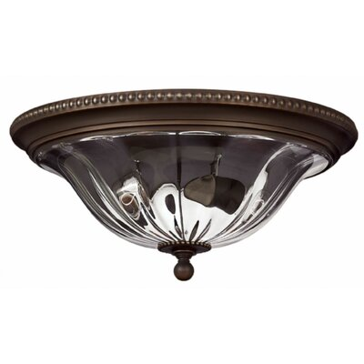 Cambridge 2-Light Flush Mount Finish: Olde Bronze