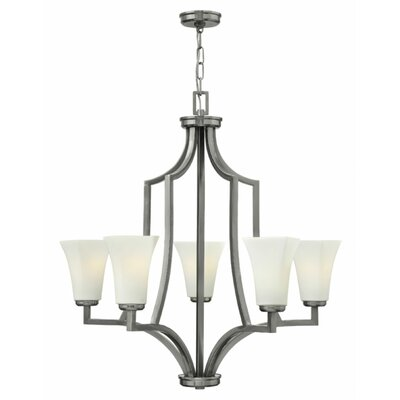 Spencer 5-Light Shaded Chandelier Finish: Brushed Nickel