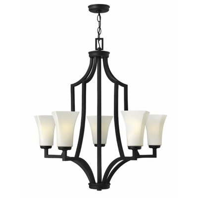 Spencer 5-Light Shaded Chandelier Finish: Textured Black