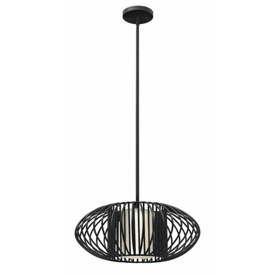 Vibe 1 Light Globe Pendant Finish: Black, Bulb Type: 15W LED