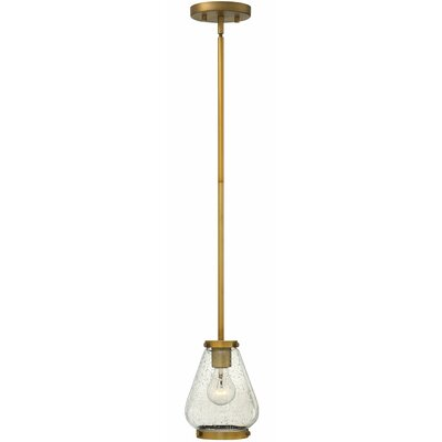 Finley 1-Light Mini Pendant Finish: Brushed Bronze
