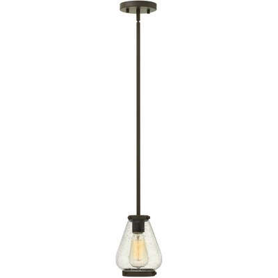 Etzel 1-Light Mini Pendant Color: Oil Rubbed Bronze