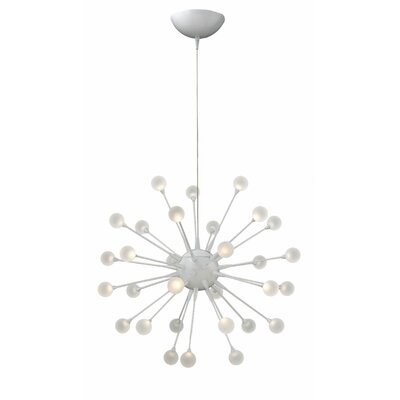 Melanie 30-Light LED Sputnik Chandelier Finish: Cloud