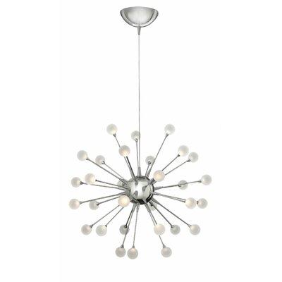 Melanie 30-Light LED Sputnik Chandelier Finish: Polished Chrome