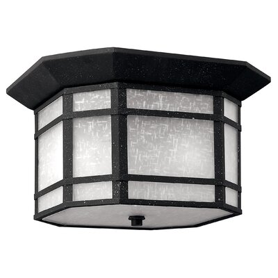 Chianna 2-Light Flush Mount Finish: Vintage Black