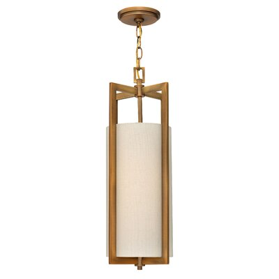 Hampton 1-Light Mini Pendant Finish: Brushed Bronze, Bulb Type: 26W GU24