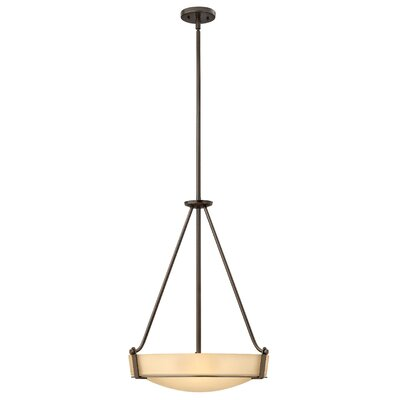 Raevon 4-Light Inverted Pendant Finish: Olde Bronze, Shade Color: White, Bulb Type: 100W Medium