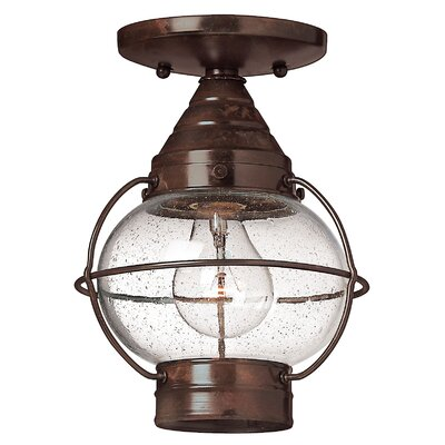 Cape Cod 1-Light Semi-Flush Mount Bulb Type: Incandescent