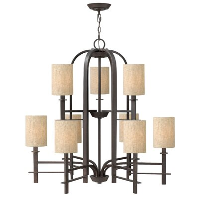 Sloan 9-Light Shaded Chandelier