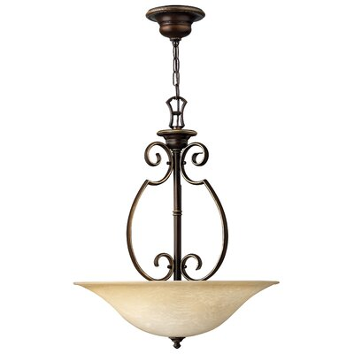 Cello 3-Light Foyer Inverted Pendant