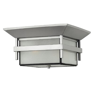 Harbor 2-Light Flush Mount Finish: Satin Black, Bulb Type: MED