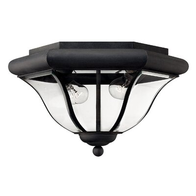 San Clemente 2-Light Flush Mount Finish: Museum Black