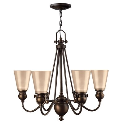 Mayflower 6-Light Shaded Chandelier