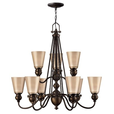 Mayflower 9-Light Shaded Chandelier